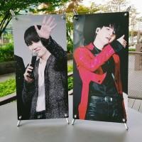Paket Cetak Mini Xbanner Media Promosi atas Meja