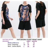 PATCWORK PLANT PRINT SHIRT. Made in Morocco - FASHIONme FO BRANDED