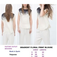 GRADIENT FLORAL PRINT BLOUSE. Made in Spain - FASHIONme FO BRANDED