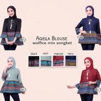 Jual Aqella blouse / atasan batik songket model terbaru Murah