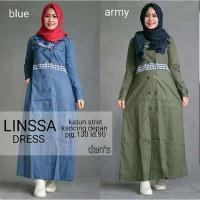 Linssa dres / gamis murah pusat grosir baju muslim wanita suplier bdg