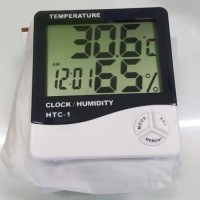 HTC-1 Termometer Digital + Hygrometer + Jam HTC1 HTC 1