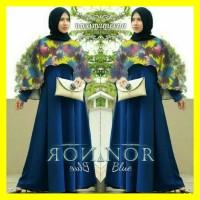 Jual Model Busana Baju Muslim Maxi Gamis Dress Pesta Batik Terbaru HEZZ0037 Murah