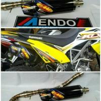 Knalpot Racing FMF F4 Fullsystem KLX 150 S/L/BF d'Tracker leher cacing