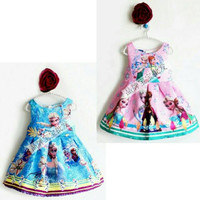 baju pesta anak frozen disney/ dress pesta anak