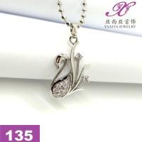 Liontin Emas putih Permata Perhiasan imitasi 18k Yaxiya Jewelry 135