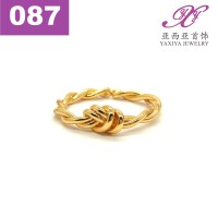 Cincin Lapis Emas Perhiasan imitasi Gold 18k Yaxiya Jewelry 087