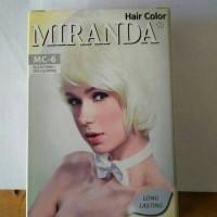Cat Pewarna Rambut Permanent Miranda Hair Color Bleaching Decoloring