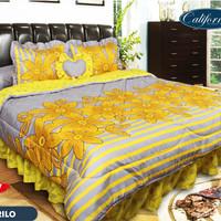 Bed cover set bedcover california Amarillo halus adem murah cantik