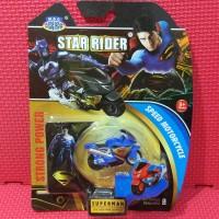 Mainan Motor Moto GP Mini Superman Spin GO Pull Back Murah Meriah
