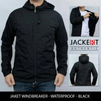 Jual Jaket Motor Harian Model Simple Polos Hitam Waterproof Semi Outdoor Murah