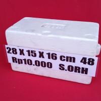 Box Sterofoam Styrofoam 28cm X 15Cm X 16 Cm - KHUSUS GOSEND GOJEK