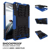 Casing Rugged Armor Lenovo A6000 PLUS A6010 HP Soft Kick Stand Case