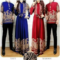 Jual couple gamis abaya batik songket  Murah
