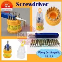 Harga obeng set magnetik obeng handphone elektronik screw driver | antitipu.com