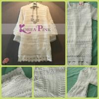 harga Baju Anak Branded Import Girls Dress Korea Embroidery Brukat White Tokopedia.com