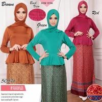 Jual Promo Setelan Batik Peplum / Busana Muslim / Setelan Baju Muslimah Murah
