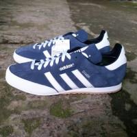 Sepatu Adidas Samba Super Original Navy White Suede