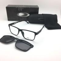 Frame Kacamata Minus Oakley Clip On 8008 Pria Full Hitam