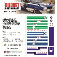 Water Slide Decal set 1:64 Universal - Japan Nostalgic Car