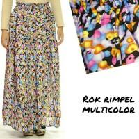 Rok Muslimah Rimpel Multicolor