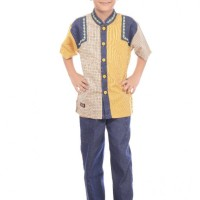 Baju Anak Muslim, Koko Anak Katun, Koko HAIHAI KA 01 Umur 8 Tahun