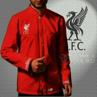 Baju Koko bola Liverpool red
