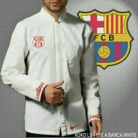Baju koko bola Barcelona white