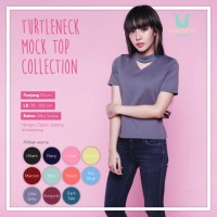 Promo UNINAMU TURTLENECK MOCK TOP COLLECTION TB 273