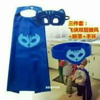 Jual Jubah PJ Mask Set Lengkap Dapat Jubah+Topeng+Gelang Murah