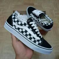 Sepatu Vans Old Skool Chekerboard Black/White Like Original