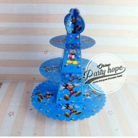 standing cupcake mickey mouse/ stand cake mickey mouse / 3 tier stand