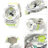 Jam Casio Baby G BGA-180 white list green ori bm
