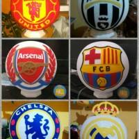 lampu tidur logo club bola chelsea / barca / lampion benang