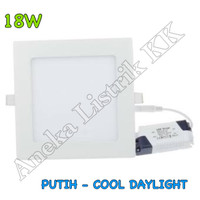 Downlight Panel LED IB KOTAK PUTIH 18w 18watt DL INBOW   Masuk Plafon