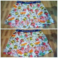 Jual Short Pants / Boxer Full motif Spongebob Squarepants Murah