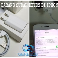 Jual CHARGER DAN KABEL IPHONE FULLSET ORIGINAL iPhone 5/6/7 Tested Murah