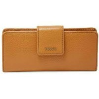 Fossil Madison Slim Clutch Saddle Wallet