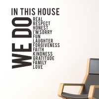 Stiker Kaca Dinding House Rules WE DO Rumah Kamar Tidur Sticker Wall