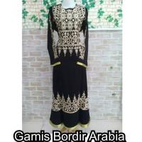 GAMIS BORDIR ARABIA/ GAMIS / GAMIS ARAB/ GAMIS HITAM