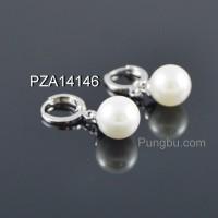 Anting putih mutiara PZA14146