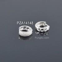 Anting putih tiga deret sirkon PZA14148