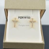 Anting emas salib PZA14153