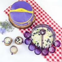 Promo Oktober!set bowl tempat mangkok gelas mug Tupperware ungu purple
