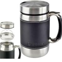 Jual SHUMA 600 Leather Mug Termos Stainless - Vacuum MUG BG 600 Ml Murah