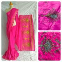 Jual Kain saree/ sari India Titli pink 10 Murah