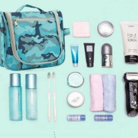 Jual TOILETRIES BAG TRAVEL ORGANIZER TAS KOSMETIK PERALATAN MANDI ARMY Murah