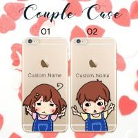 Harga custom case couple termurah bisa semua tipe hp iphone samsung oppo | antitipu.com