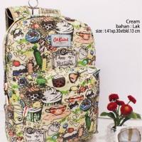 tas ransel wanita cath kidston 5074 besar case laptop cream