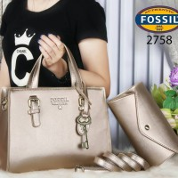 Tas Fossil Essential Saddle Leather 2in1 GOLD Semi Ori 2758